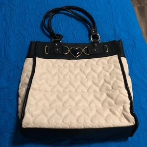 Betsey Johnson Be Mine quilted heart tote large